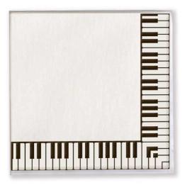 VIENNA WORLD K0266 GADGET DA REGALO TOVAGLIOLI DI CARTA SET DA 20PZ CON TASTIERA PIANOFORTE