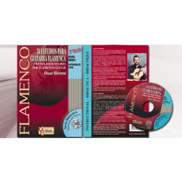 FLAMENCO OSCAR HERRERO INTERMEDIATE LEVEL LIBRO + CD 24 ESTUDIOS PARA GUITARRA FLAMENCA