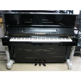 H. WILLERMANN 123 PIANO PIANOFORTE ACUSTICO VERTICALE MARTELLIERA TEDESCA NERO LUCIDO